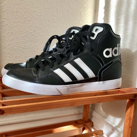 official photos 983ec c4fb9 adidas Shoes - Womens Adidas High Top Leather Basketball Sneakers